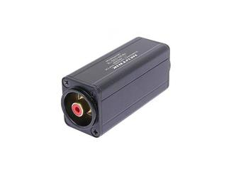 Neutrik Minitrafo, Symetrie Adapter, 3pol XLR male - Cinch, rot