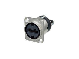 Neutrik NAHDMI-W HDMI 1.3 Durchführung im Nickel D-Form Gehäuse