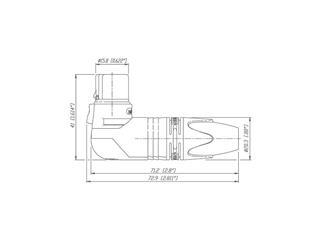 Neutrik 3pol-XLR Winkelkabelbuchse