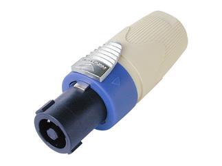Neutrik NL4FX , 4 Poliger Kabelstecker Speakon - weiße Spannhülse
