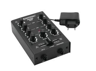 OMNITRONIC Gnome-202 Mini-Mixer schwarz 2-Kanal-DJ-Mixer