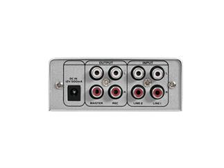 OMNITRONIC Gnome-202 Mini-Mixer silber 2-Kanal-DJ-Mixer