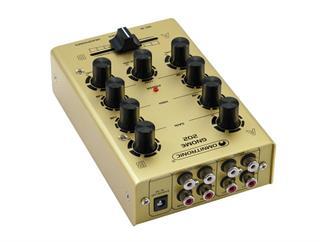 OMNITRONIC Gnome-202 Mini-Mixer gold 2-Kanal-DJ-Mixer