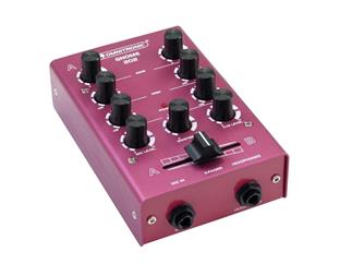 OMNITRONIC Gnome-202 Mini-Mixer rot 2-Kanal-DJ-Mixer