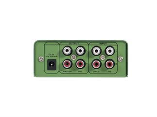 OMNITRONIC Gnome-202 Mini-Mixer grün 2-Kanal-DJ-Mixer