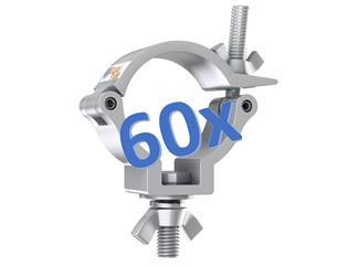 60x Global Truss Trussaufnehmer klein, 100kg, 30mm breit, TÜV