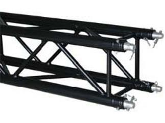 Global Truss F34PL- Version schwarz 100cm, 4-Punkt Truss, inkl. Verbinder