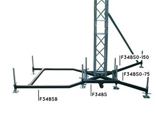 Global Truss Outrigger Base New Style 75 cm Stahl