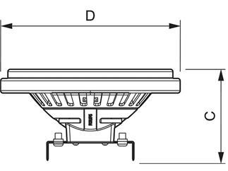 Philips MASTER LEDspotLV AR111 D 15-75W 2700K 24°