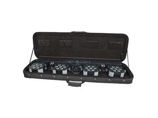 Showtec Compact Power Lightset, 4x je 7x 3Watt Multichip LEDs, mit Tasche, Stativ, Fußschalter