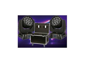 Showtec Infinity iW-1915, 19x 15W RGBW LED Movinghead-Bundle inkl. CASE
