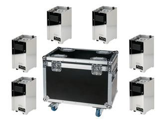 Showtec Eventspot 1800 Q4 Set 6x Eventspot Tourpack im Case