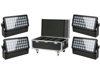 4er-Set Showtec Helix 4000 Q4 40x10W 15° inkl. Case