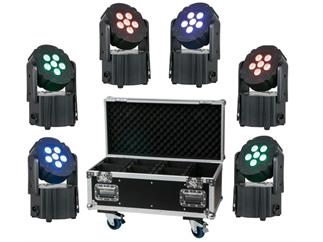 Showtec Eventlite 6/3 BUNDLE 6x3W TCL LED mit Akku und Wireless DMX inkl. CASE