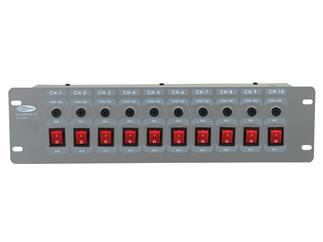 Showtec DJ-Switch 10 10-fach Schaltboard, Schutzkontakt, 3HE