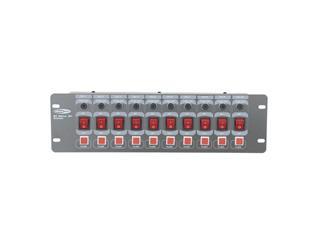 Showtec DJ-Switch 10-F 10-fach Schaltboard 10x Schutzkontakt