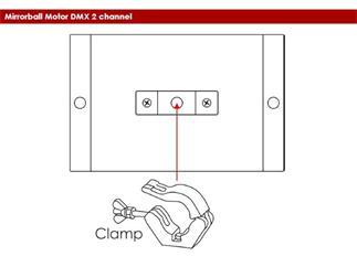 Spiegelkugel-Motor DMX, 2 DMX Kanäle