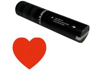 Showtec Handheld Konfetti Kanone 28cm rote Herzen (schwer entflammbar)