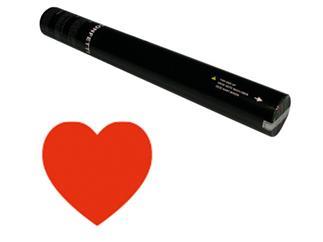 Showtec Handheld Konfetti Kanone 50cm rote Herzen (schwer entflammbar)