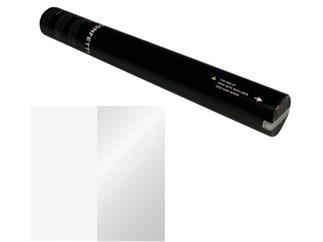 Showtec Handheld Konfetti Kanone 50cm weiß / silber (schwer entflammbar)