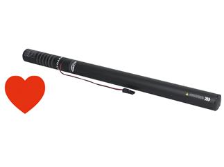 Showtec Electric confetti cannon Pro 80cm, Red Hearts