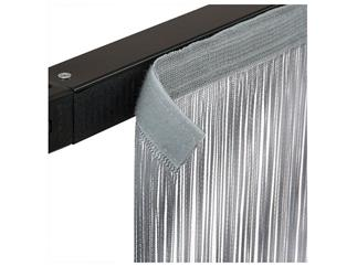 SHOWTEC String Curtain 4(h)x3(w)m Silver Grey, incl velcro