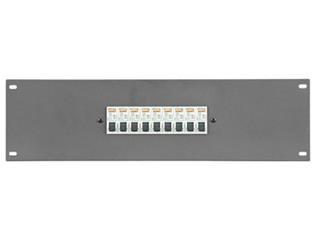 """Showtec PDP-F9161 19"""" Paneel mit 9 x 16A MCB 1 Pol"""