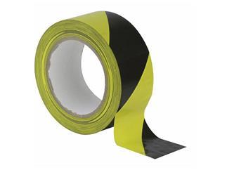 Floortape schwarz / gelb 50mm breit, 33m Rolle