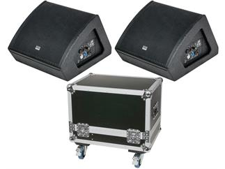 "DAP-Audio M12 BUNDLE, 2x aktiver Monitorlautsprecher 12"" inkl. CASE"