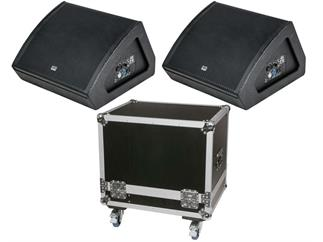 "DAP-Audio M15 BUNDLE, 2x aktiver Monitorlautsprecher 15"" inkl. CASE"