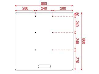 PROmagiX Bodenplatte 80x80cm für 4-Punkt Truss schwarz