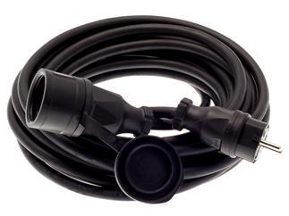 PROmagiX Schutzko-Kabel 10m mit Vollgummistecker und Kupplung mit Deckel