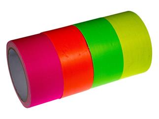 Pro Lighting Neongewebeband Tape 4er Set 4x 50mm x 10m UV-aktiv