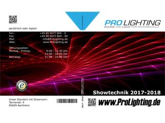 Update-Katalog Pro Lighting Showtechnik 2017/2018