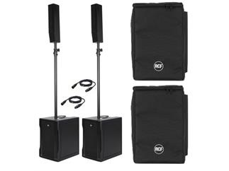 RCF Evox 8, Aktives 2-Wege Array-Lautsprecher-Set inkl. Kabel + Taschen