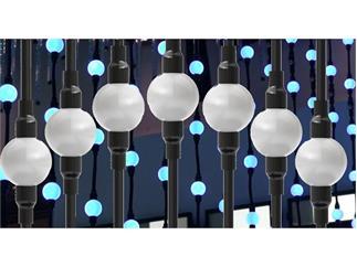 SGM LB-100 LED Balls String 7 LED Balls Kettensegment 85cm, schwarz, IP65