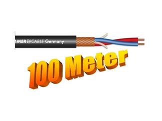 Sommer Cable Mikrofonkabel 100m Stage 22 Highflex; 2x 0,22 mm² schwarz