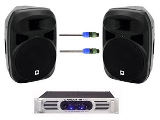 Sound-Set bestehend aus 2x Omnitronic NKB-215 inkl. Endstufe und Kabel