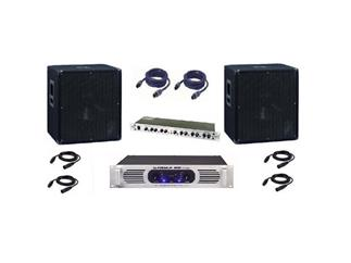 2x BX-1850 Bass + DAP Palladium 2000 + Weiche + Kabel, Set