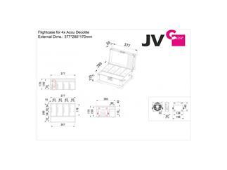 ACCU DECOLITE Case für 4x JB Systems Accu Deolite