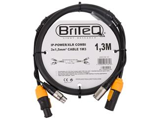 BriteQ IP-Powercon/XLR combi Kabel 1,3m
