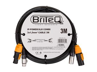 BriteQ IP-Powercon/XLR combi Kabel 3m
