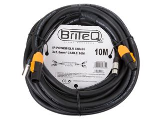 BriteQ IP-Powercon/XLR combi Kabel 10m