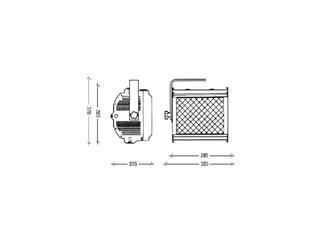 Cyclo 1000W, asymmetrischer Fluter inkl. Farbfilterrahmen + Schutzglas