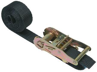 Zurrgurt mit Ratsche, 1-teilig, 50mm, Länge: 2.1m 3.000kg, SCHWARZ, DIN12195-2
