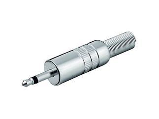 Klinkenstecker - 3,5 mm - mono, Metallausführung mit Knickschutz