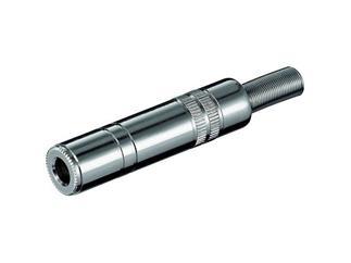Klinkenkupplung - 6,35 mm - mono, Metallausführung mit Knickschutz