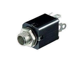 Klinkeneinbaubuchse - 6,35 mm - mono, Plastikausführung mit Schaltkontakt