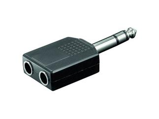 Audio-Adapter, 6,35mm stereo St.>2x6,35 mm stereo Kuppl