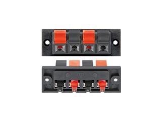 Lautsprecher-Terminal, 4 pol.Klemmleiste, rot/schwarz